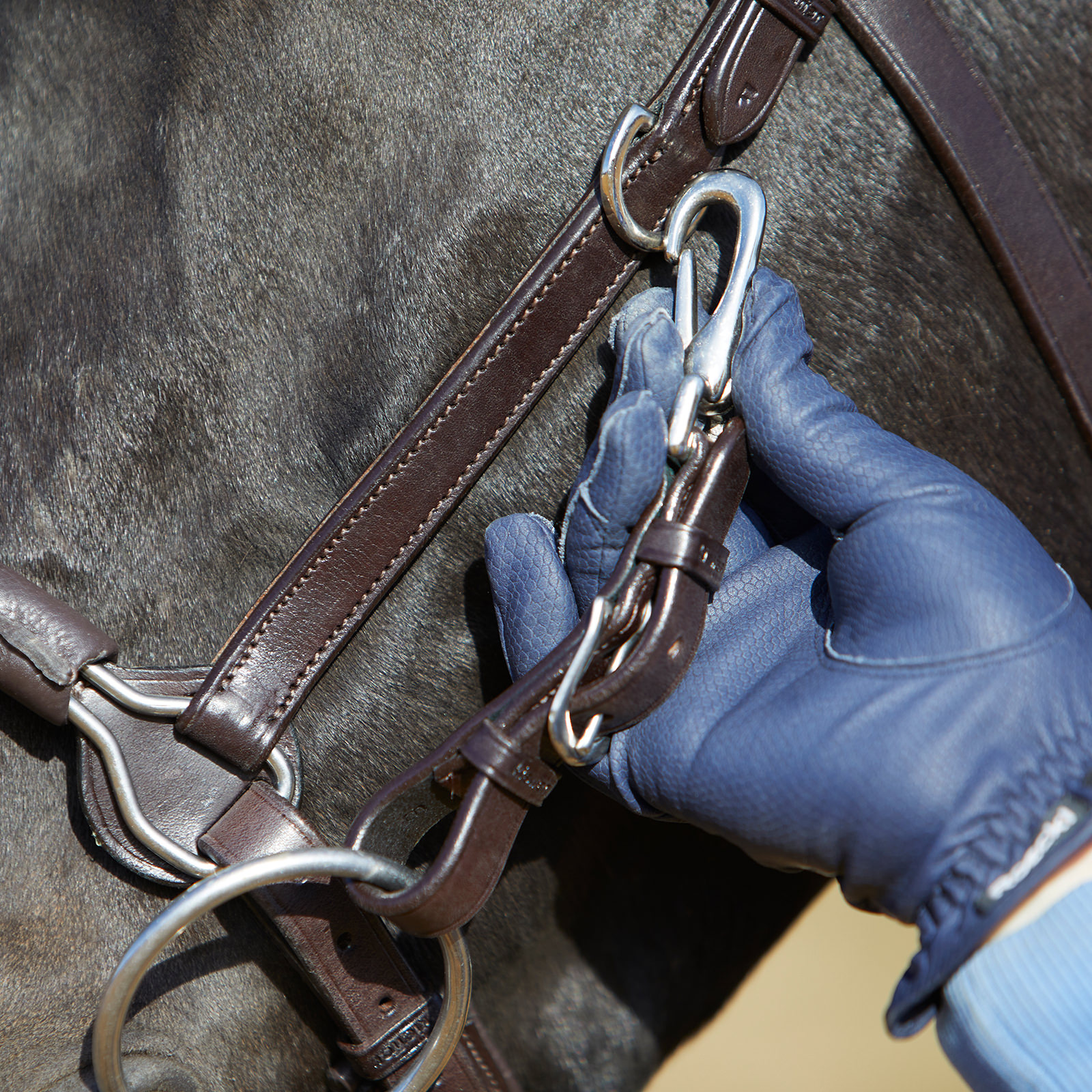 Kieffer reins are provided with 100/% rustproof Hardware Buckles.